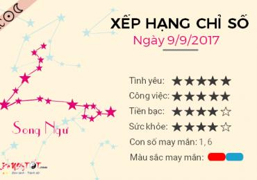 TỬ VI THỨ 7 NGÀY 09/09/2017 CỦA SONG NGƯ
