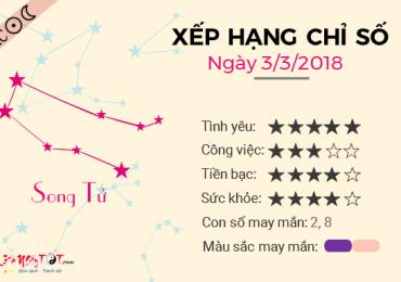 TỬ VI THỨ 7 NGÀY 03/03/2018 CỦA SONG TỬ